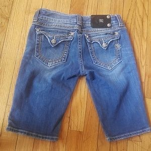 Miss me slightly distressed bermuda jean shorts